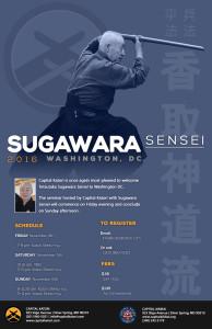 Poster - Sugawara Sensei - 2016 Seminar - Nov 4-6
